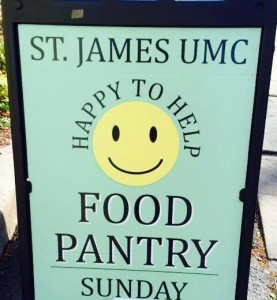 St James Food Pantry sign-480x520