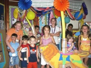 Vacation Bible School, welcoming all children to come have fun while learning about God's love for them